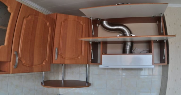гофрированный воздуховод внутрь шкафа